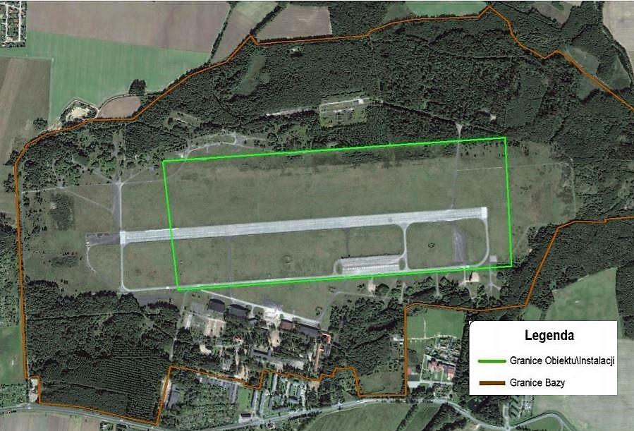 Mapa inwestycji w Redzikowie. fot. MON