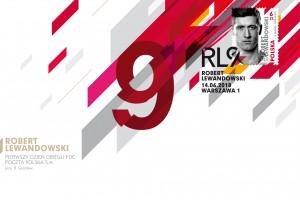 Robert Lewandowski na znaczku Poczty Polskiej