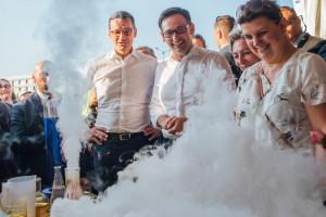 Premier Morawiecki i prezes Obajtek na festynie w Dniu Chemika w Płocku