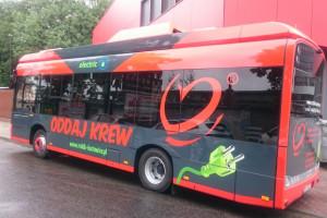 Pierwszy w Europie ambulans do pobierania krwi o napędzie elektrycznym