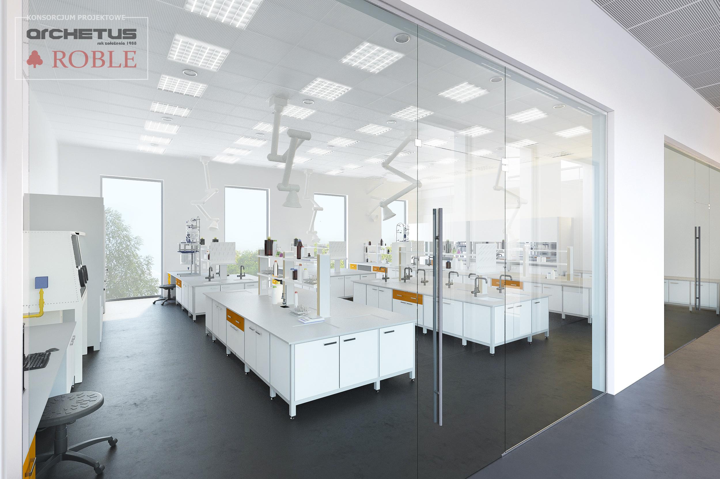 Wizualizacja wnętrza laboratorium. Fot. mat. pras.