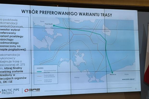 Znamy rekomendowaną trasę gazociągu Baltic Pipe
