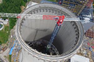 Wielka niczym 45-piętrowy wieżowiec chłodnia Elektrowni Turów już prawie gotowa