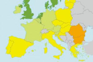 Ta mapa mówi wszystko. Polska nie ma się czym chwalić. Jest bardzo źle