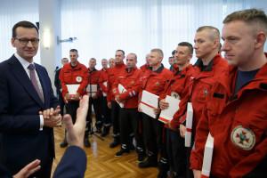 Premier: praca ratowników górniczych jest naznaczona bohaterstwem