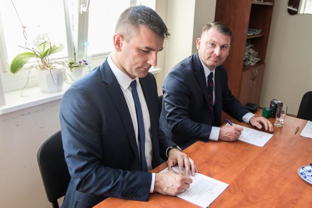 Umowa o dofinansowaniu została podpisana w Urzędzie Marszałkowskim Województwa Kujawsko-Pomorskiego. Fot. Mat. pras.