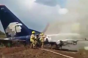Katastrofa lotnicza w Meksyku. Samolot rozbił się i spłonął, ale nikt nie zginął