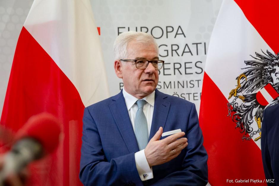 Jacek Czaputowicz: argumenty USA ws. Nord Stream 2 są przekonujące