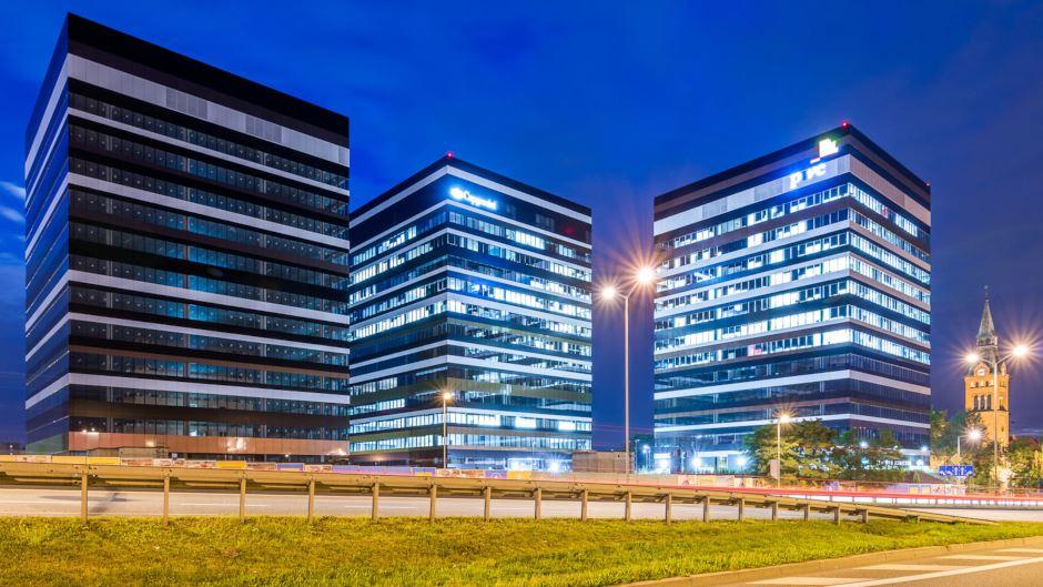 Kompleks biurowy Silesia Business Park w Katowicach. fot. Skanska
