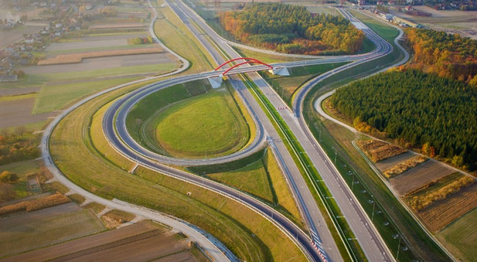 Fragment autostrady A4 koło Jarosławia, wybudowanej przez Budimex. fot. mat. pras.