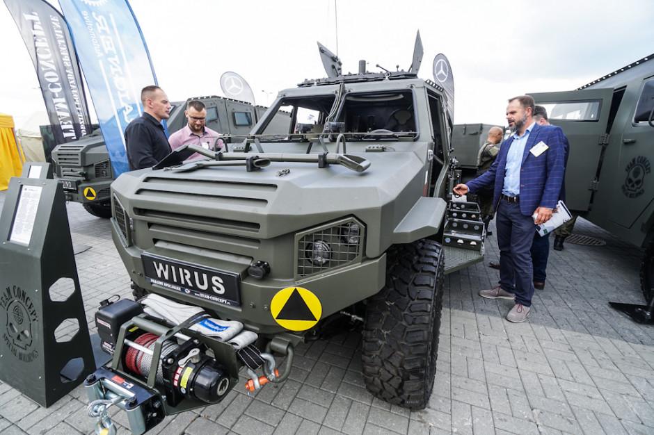 Wśród kieleckich premier był lekki pojazd wysokiej mobilności dla wojsk specjalnych LPU Wirus 4, który został pokazany przez bialską spółką Concept.