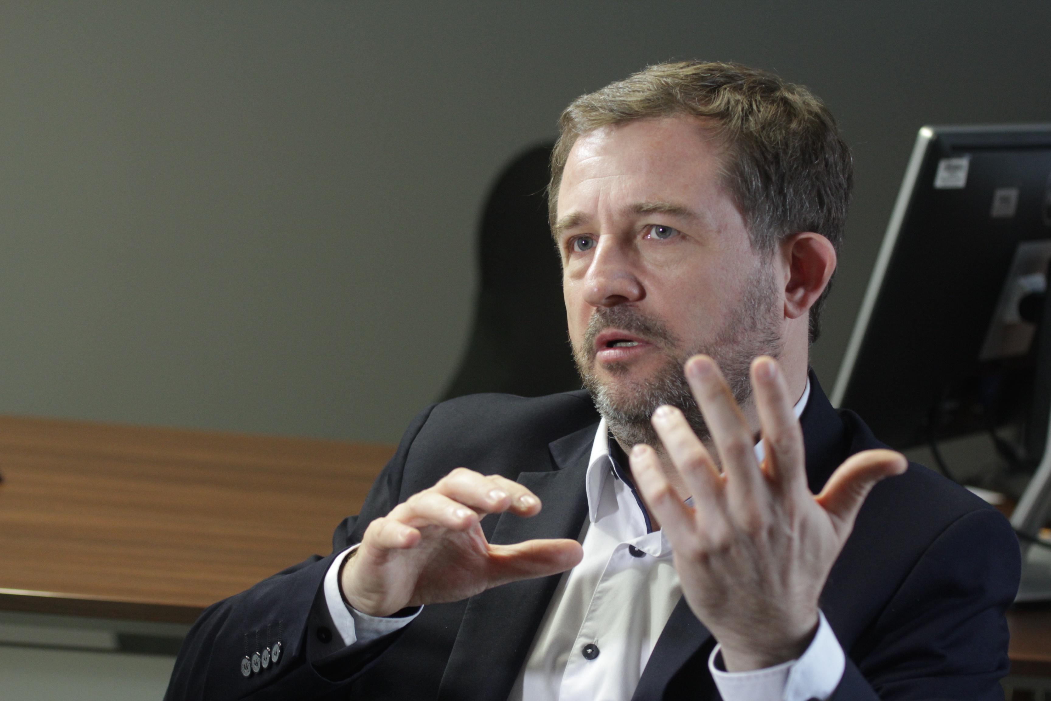 Radosław Banach, prezes Alstomu Konstalu.