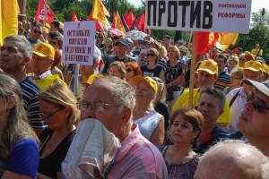 Rosjanie protestują przeciwko podniesieniu wieku emerytalnego