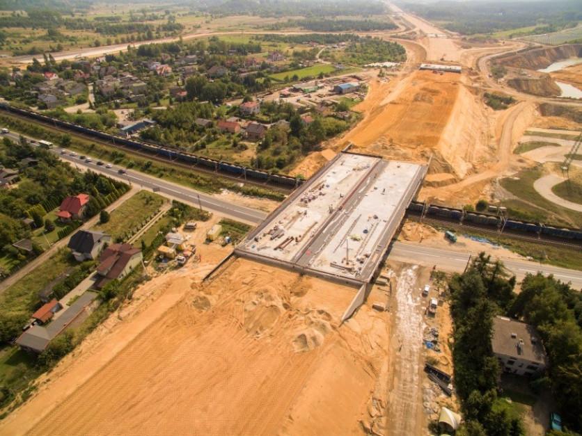 Fragment budowanej przez Salini autostrady A1. fot. GDDKiA