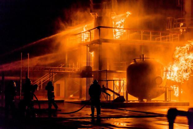 Duży pożar w elektrowni pod Moskwą