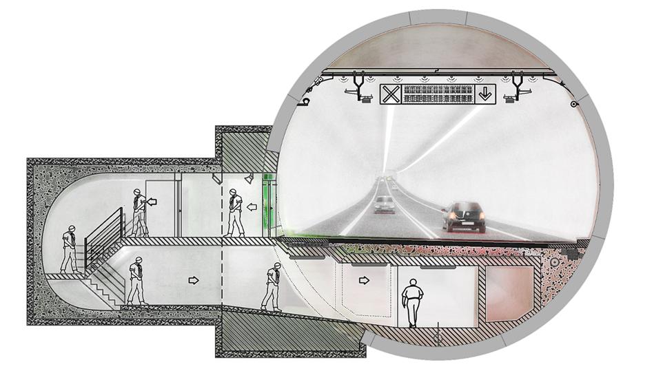 Planowany przekrój tunelu w Świnoujściu. fot. UM Świnoujście