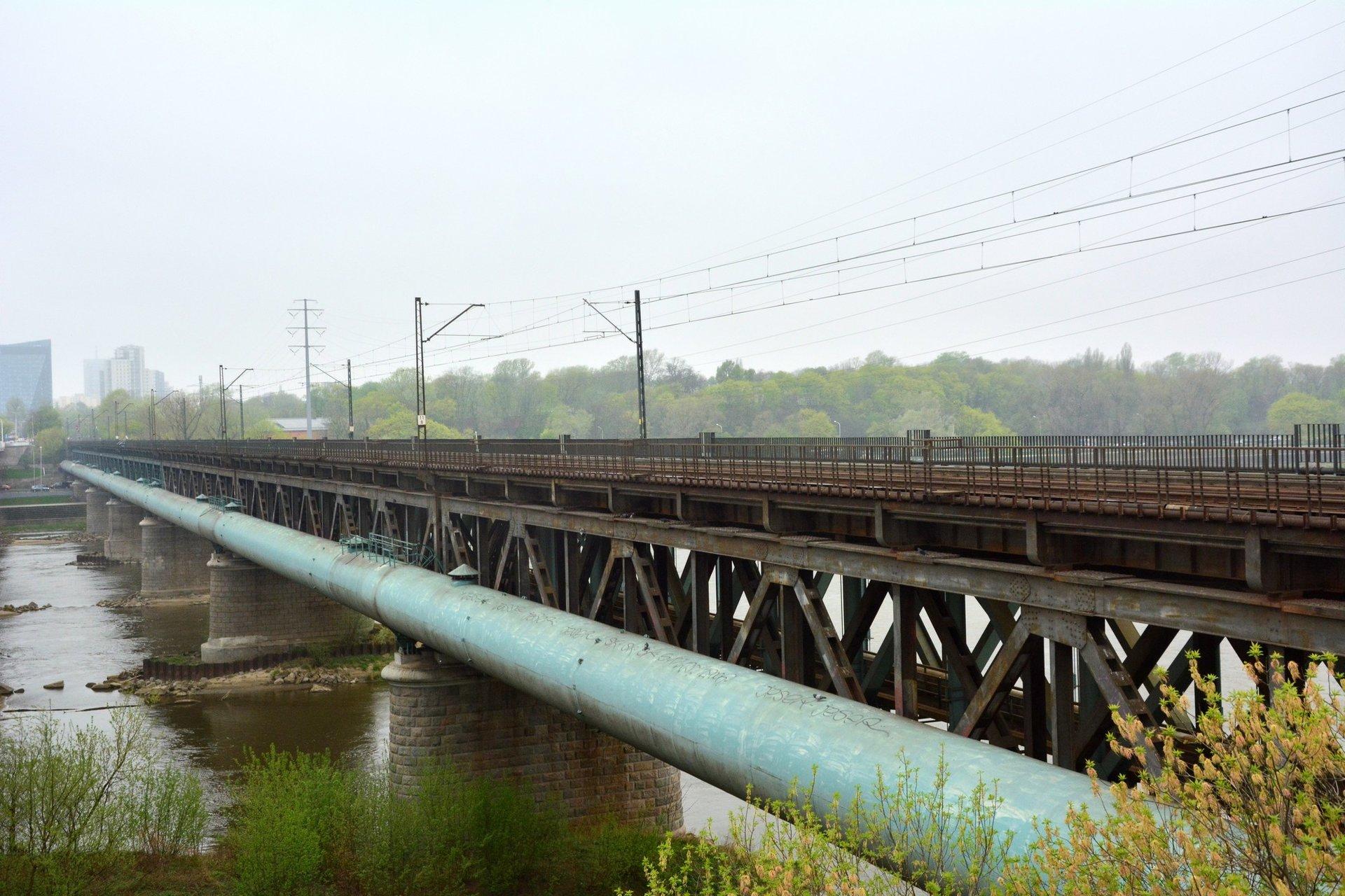 Most Gdański w Warszawie ma zostać wzmocniony (fot. PKP PLK)