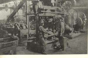 Huta Falva - podkowiarnia w roku 1918.