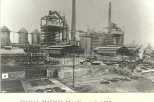 Huta Falva - wydział wielkich pieców rok 1918.