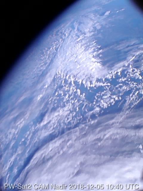Zdjęcie Ziemi wykonane przez satelitę PW-Sat2 (fot. mat. pras.)