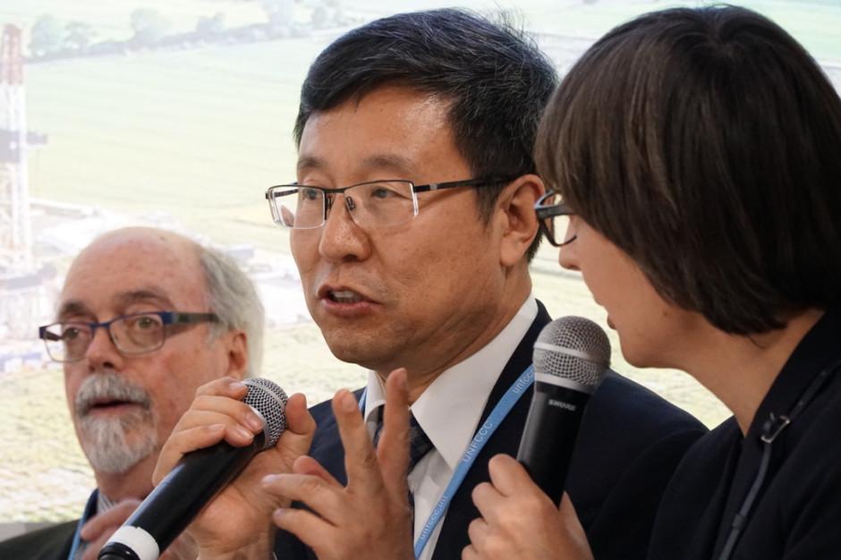 Raymond C. Pilcher, przewodniczący Grupy Eksperckiej ds. Metanu z Kopalń (UNECE) i Jin Zhixin, wiceprezes i dyrektor generalny Shanxi Coking Coal Group z Chin. Fot. PTWP