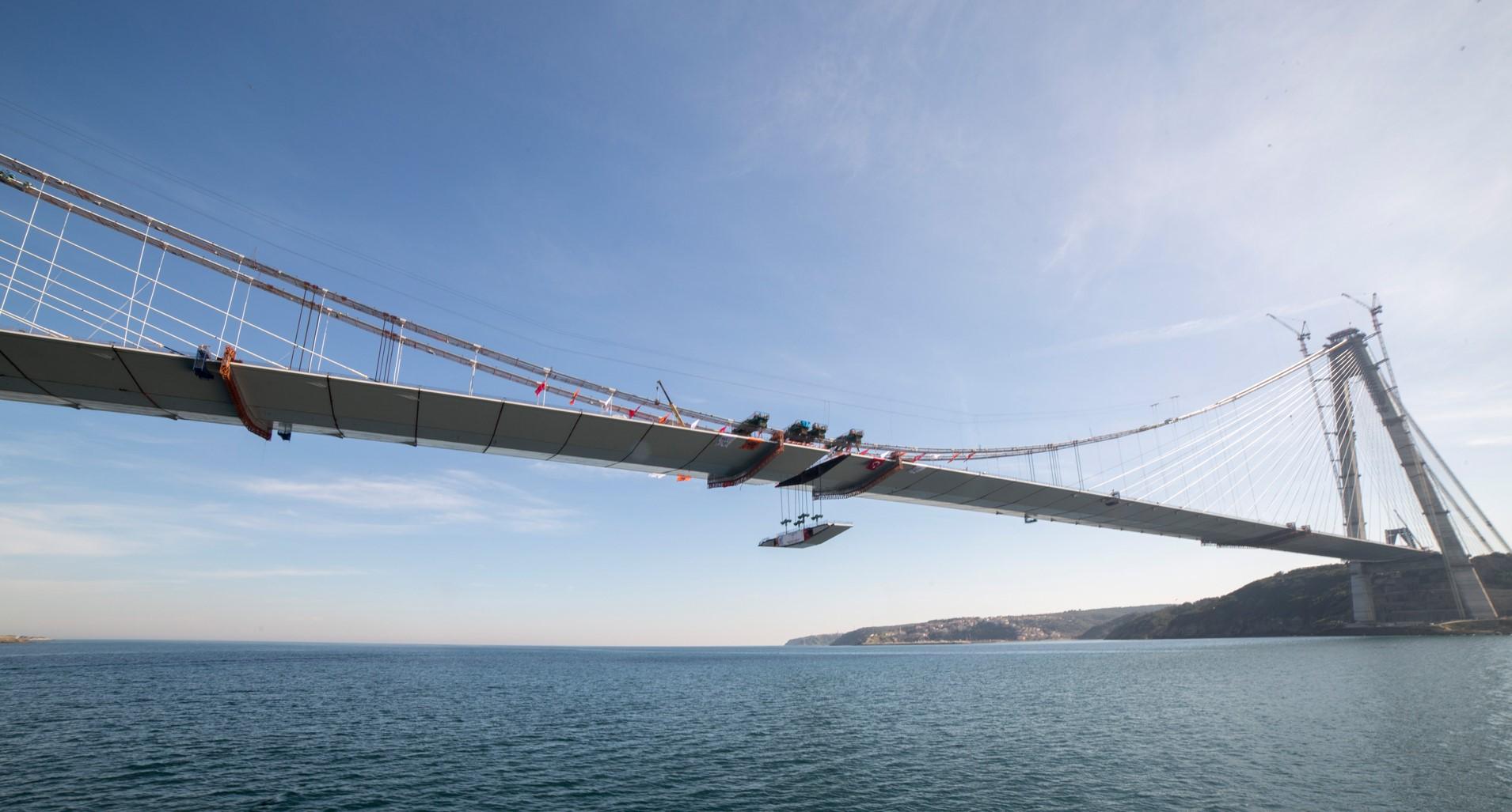 Trzeci most nad Cieśniną Bosfor - jeszcze w trakcie budowy. fot. Astaldi