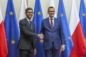 Prezes Google'a w Warszawie. Polska zaprasza go do współpracy