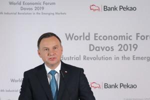 Andrzej Duda zdradził w Davos receptę na skuteczność
