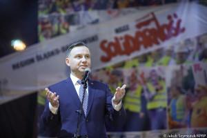 Prezydent Duda do górników: wykonujecie zawód i służbę dla Polski wyjątkową