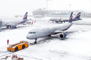 Aerofłot odwołał około 80 rejsów z powodu opadów śniegu