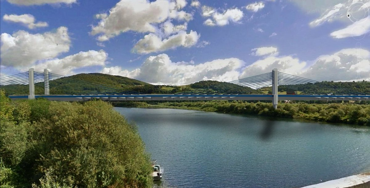 Wizualizacja nowego mostu. fot. GDDKiA