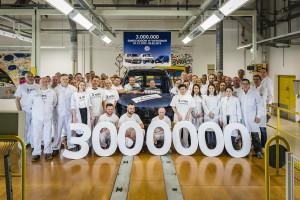 Samochód nr 3 mln wyjechał z fabryki Volkswagen Poznań