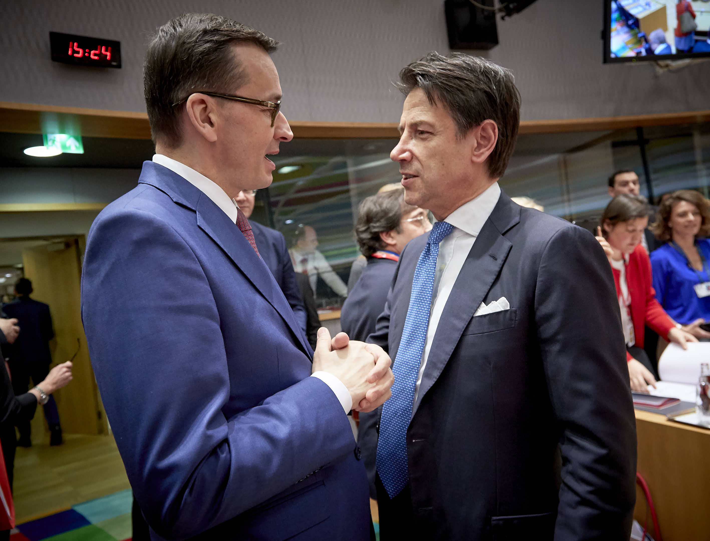 Premier Mateusz Morawiecki w Brukseli podczas szczytu UE. Fot. mat. pras.