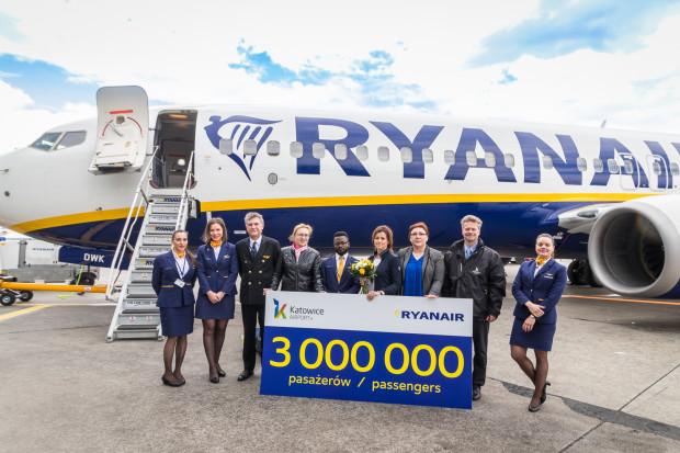 Ryanair obsłużył w Katowicach już 3 mln pasażerów