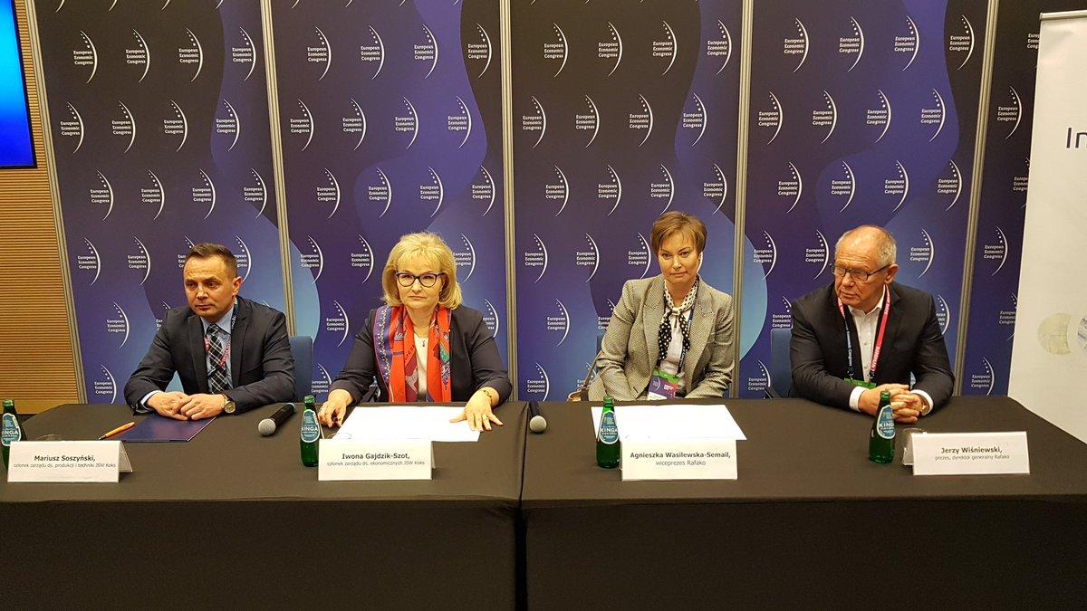 13 maja 2019 r. - Podpisanie porozumienia ws. budowy elektrociepłowni w Radlinie. fot. PTWP