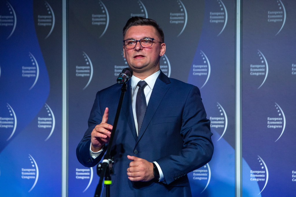 Prezydent Katowic Marcin Krupa.