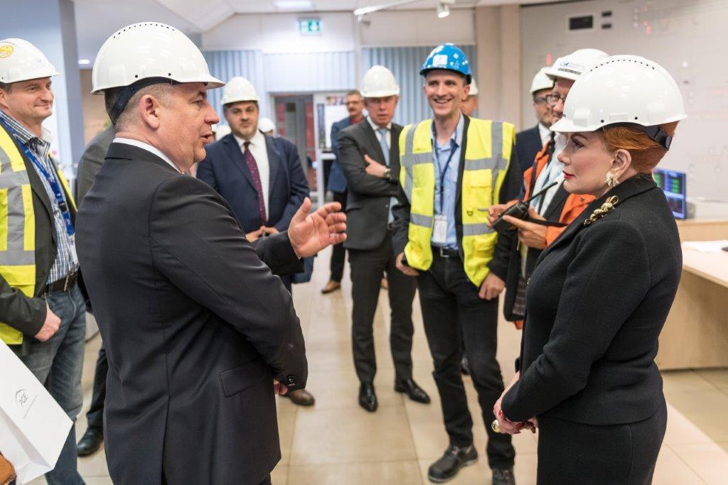 Prezes PGE Henryk Baranowski oraz ambasador USA w Polsce Georgette Mosbacher. fot. PGE