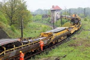 Decydujące prace na ważnych, kolejowych, transportowych trasach