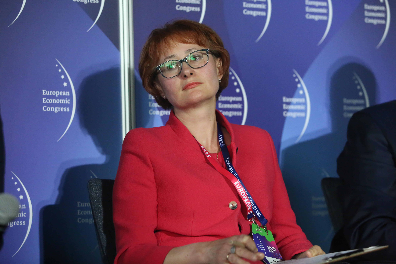 Katarzyna Kreczmańska-Gigol, wiceprezes zarządu ds. finansowych KGHM Polska Miedź. Fot. PTWP