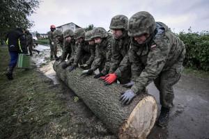 Wojsko Polskie usuwa skutki nawałnicy