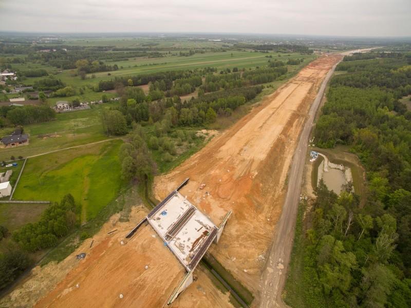 A1 w okolicach Częstochowy po rozwiązaniu umowy z konsorcjum Salini. fot GDDKiA