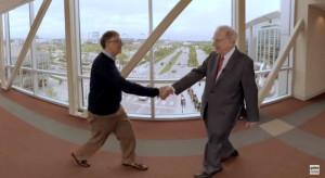 Słodkie podziękowania Billa Gatesa dla Warrena Buffetta
