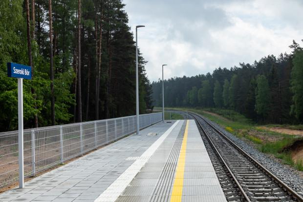Nowe tory i perony na Mazurach
