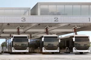 Automatyczny pantograf naładuje 3 autobusy jednocześnie