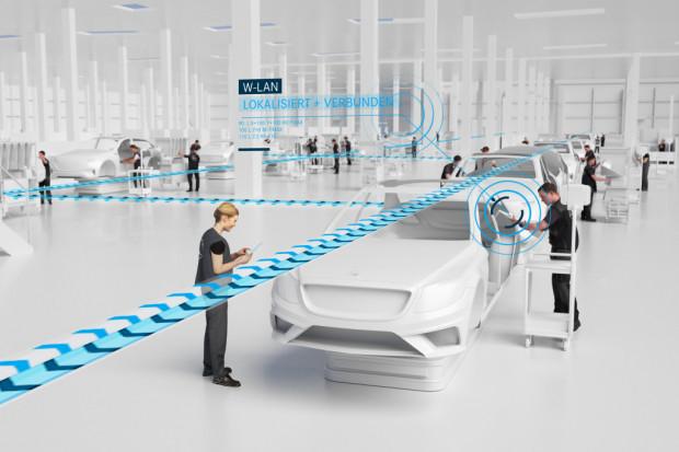 Mercedes montuje sieć 5G w swoich zakładach