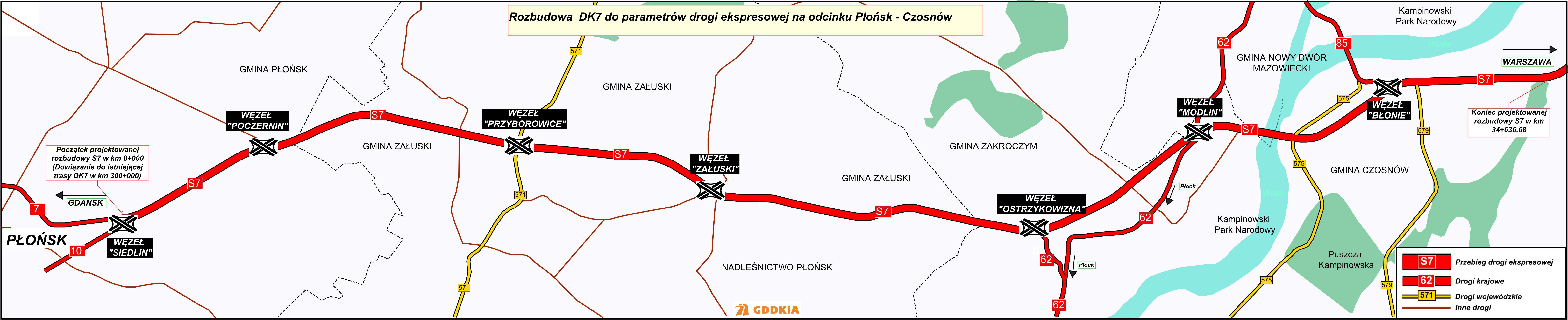 S7 Płońsk - Czosnów S7. fot. GDDKiA