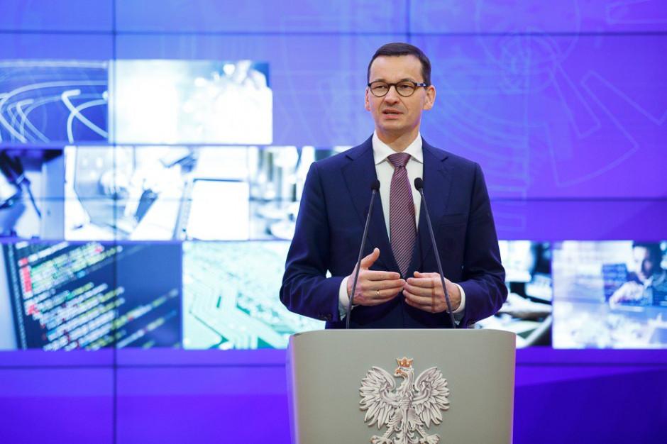 Mateusz Morawiecki: Tworzymy nowoczesny model rozwoju taki, który poniesie nas w przyszłość taki, który spowoduje, że szybciej dogonimy Niemcy, nie za 21 lat (fot. Mat.pras)