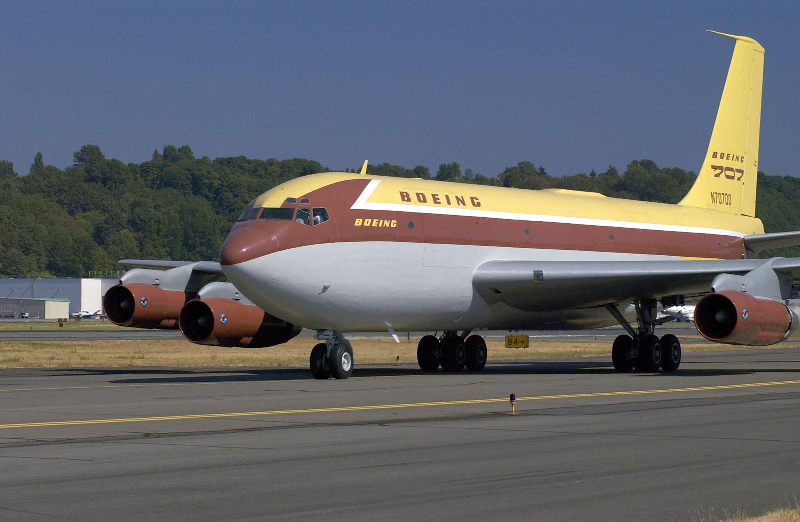 Boeing B707 w pierwotnej postaci jeszcze jako Dash80. Fot Boeing/CC BY 2.0