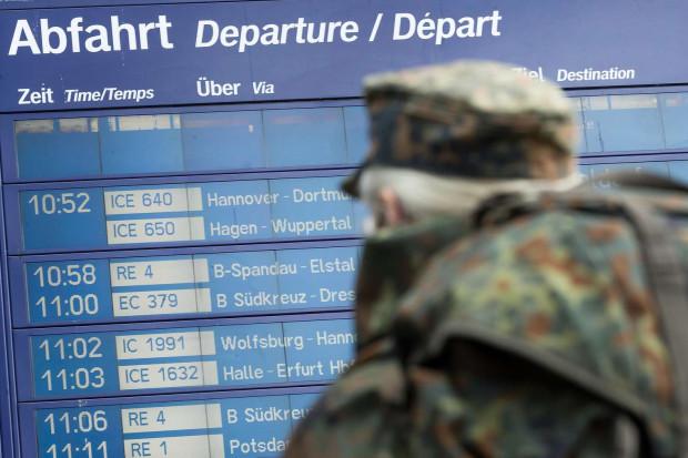 Niemieccy żołnierze będą jeździć za darmo kolejami narodowymi