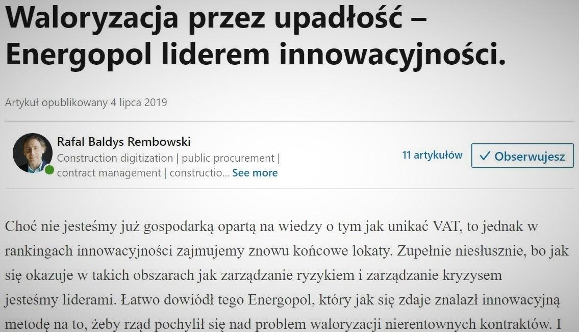 Tunel kolejowy w Łodzi to jedna z najważniejszych inwestycji infrastrukturalnych w Polsce. Upadłość generalnego wykonawcy może stanowić duże ryzyko dla powodzenia tak dużej inwestycji, dofinansowanej przez UE. fot. LinkedIn.